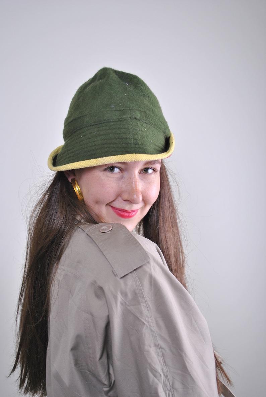 Vintage multicolor bucket hat 90s sailor hat women retro 80s sea accessories