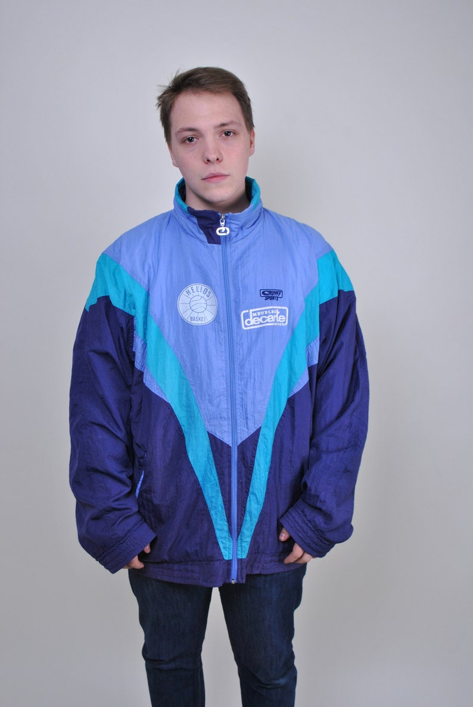 d9015c627 Multicolor windbreaker vintage sport jacket 90s track suit | Etsy