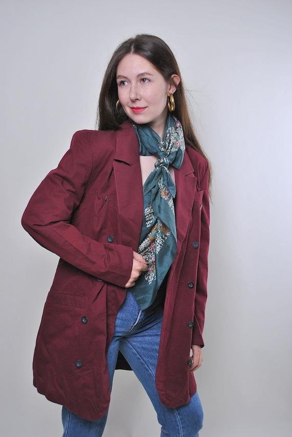 Vintage 80s oversized Red blazer jacket, Size L