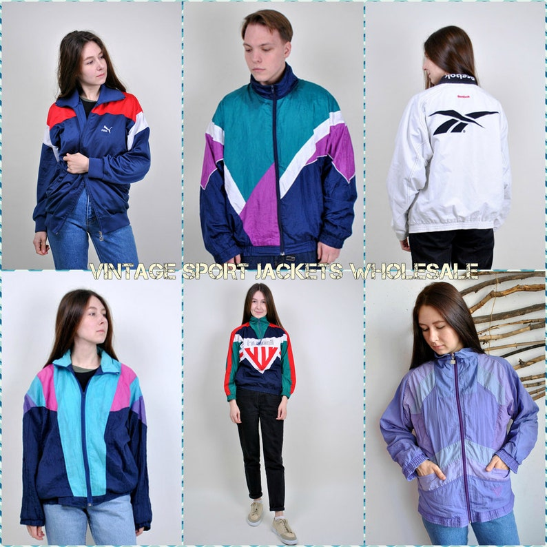 745c2144242 VIntage Windbreakers WHOLESALE Bulk buy Men s Sport