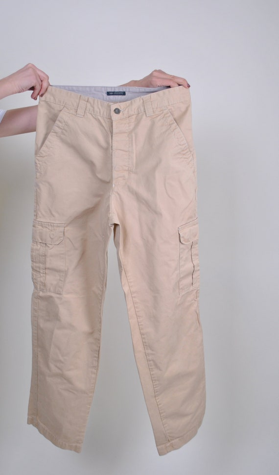 Beige cargo pants, 90s worker pants, Dockers work