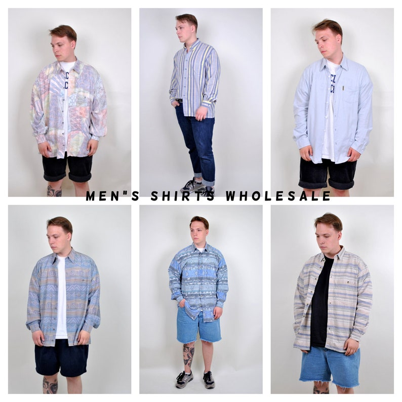 Vintage SHIRTS WHOLESALE, Button Down Bulk buy, Men's oxfords, 90's shirt,  Long sleeve shirt, Summer Outfit, Retro clothes, mixed up, Suit
