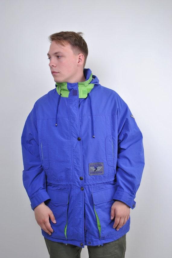 80s SCHOFFEL vintage travel parka jacket, Size L