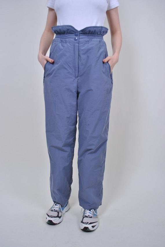 Vintage grey ski pants, 80s plus size ski suit tro