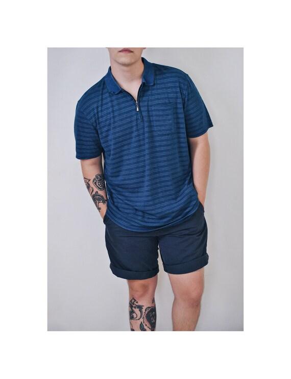 Weinlese gestreiftes Polo 90er Schnittmuster Shirt 80er | Etsy