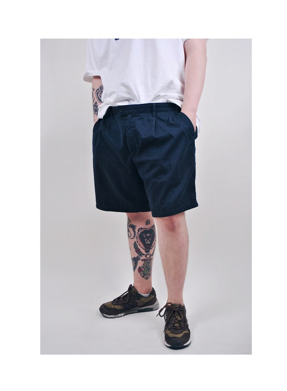 Vintage mens blue military chino shorts, Size W 38