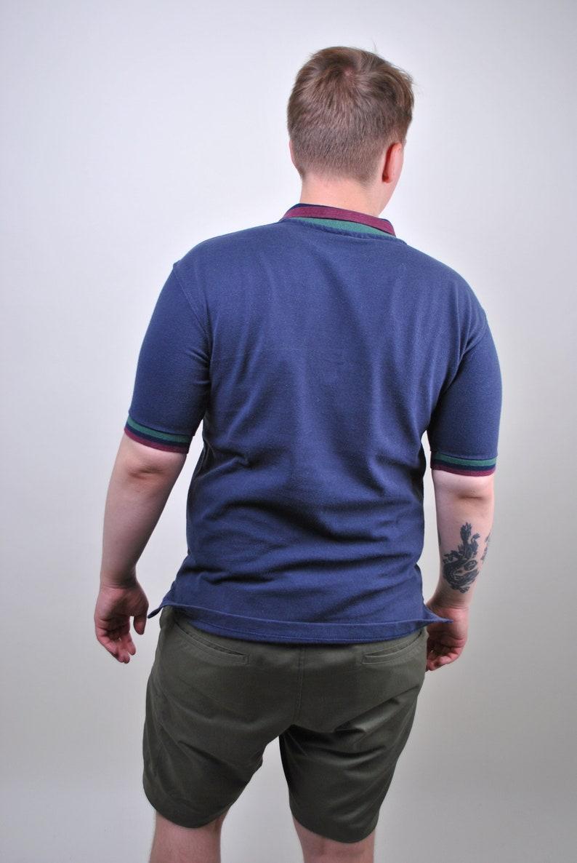 HRC Key West blue polo logo embroidery rock shirt SIze M
