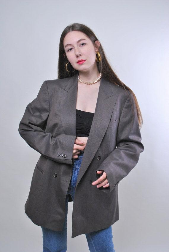 Vintage oversized grey blazer jacket, One size