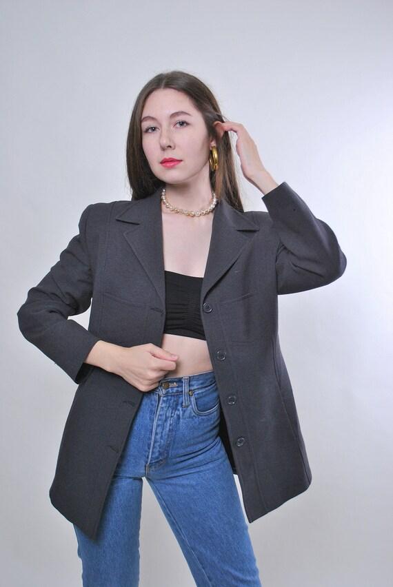 Vintage Italian suit grey blazer jacket, Size M