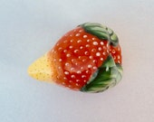 Limoges porcelain strawberry shaped hand painted trinket box