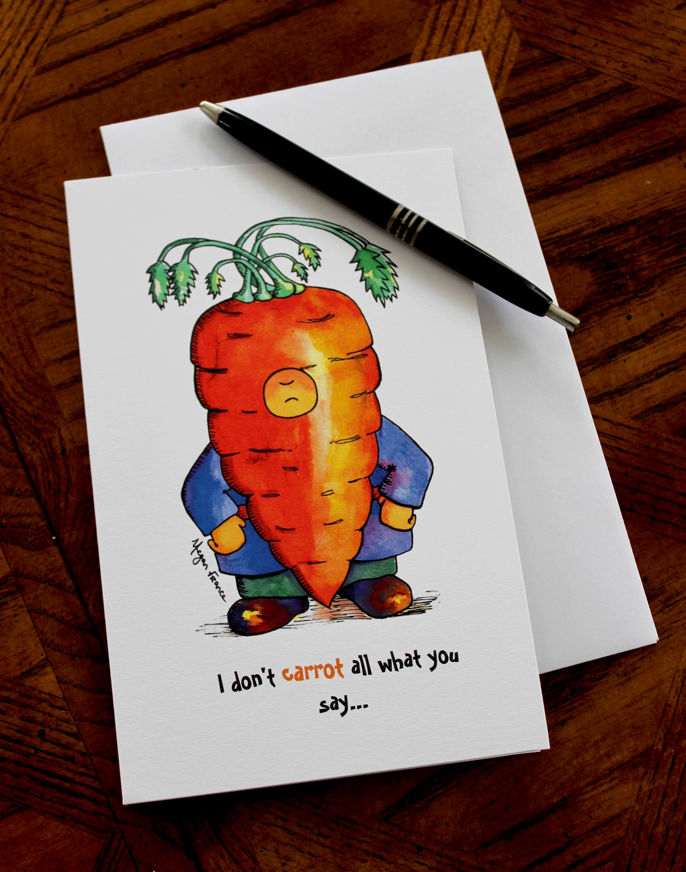 Happy Birthday Card Pudgy Paul Carrot Funny Stubborn
