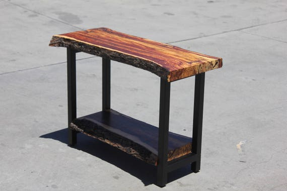 Remarkable Live Edge Rustic Console Table Live Edge Hall Table Side Table Bralicious Painted Fabric Chair Ideas Braliciousco