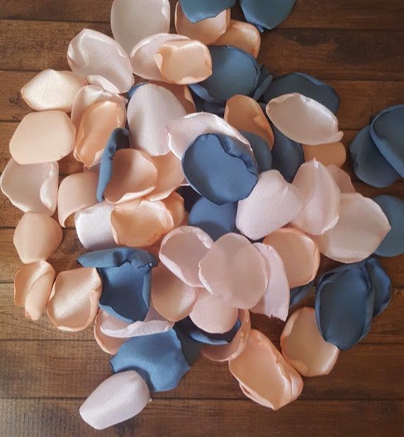 Dusty Blue Wedding Peach Wedding Decor Blush Wedding Blush Etsy