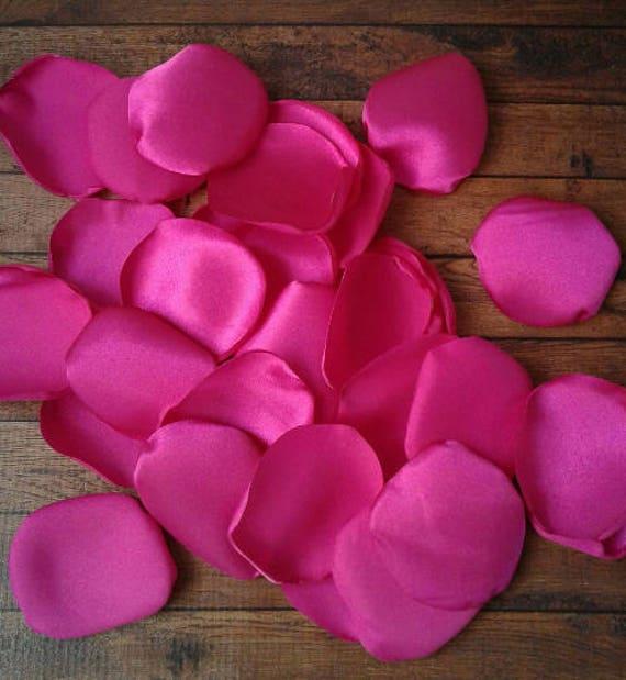 Hot pink rose petals hot pink wedding flower petals flower etsy image 0 mightylinksfo