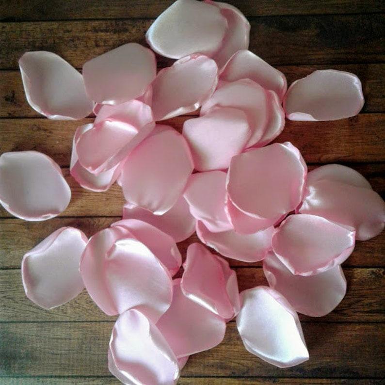 Pink Rose Petals Light Pink Wedding Pink Wedding Decor Satin Rose Petals Aisle Runner Decor Wedding Decor Wedding Aisle Runner