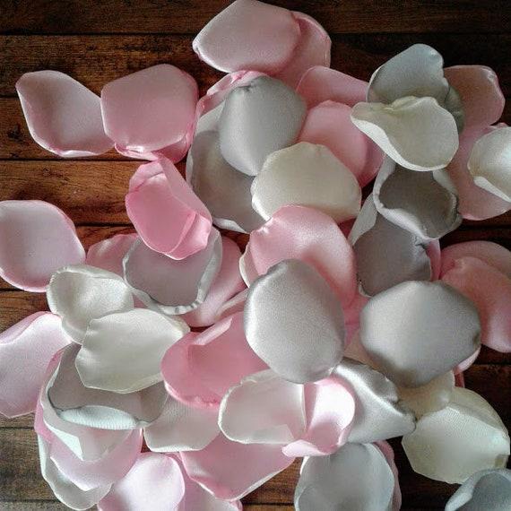 Light Pink Wedding Decor Ivory Rose Petals Silver Rose Petals Flower Petals Table Decor Flower Girl Petals Bridal Shower Decorations