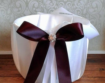 Burgundy  Flower girl basket, wedding flower basket,wedding ceremony  basket, flower girl, flower girl accessories,flower girl basket white.