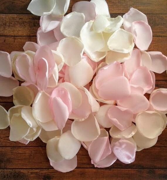 Bridesmaid Proposal Bridesmaid Proposal Box Ivory Rose Petals Light Pink Wedding Decor Honeymoon Accesories Rose Petals Table Decor