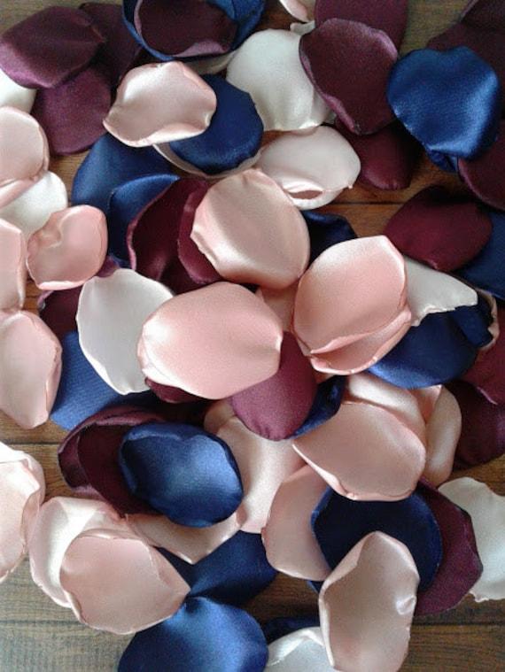 Cake Table Decor Rose Gold Rose Petals Navy Rose Petals Burgundy