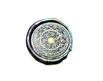 Sun Star and Moon Wax Seal Stamp, wax sticks, wax spoon - Fast Shipping from Utah, USA - Design O7