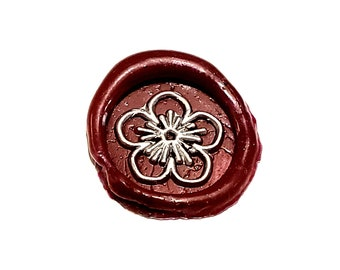 MINI Stamp Flower | Wax Seal Stamp, wax sticks, wax spoon - Fast Shipping from Utah, USA - Design 22B