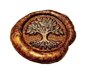 MINI Stamp Tree Of Life | Wax Seal Stamp, wax sticks, wax spoon - Fast Shipping from Utah, USA - Design 19B