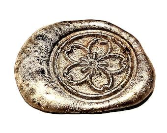 MINI Stamp Flower | Wax Seal Stamp, wax sticks, wax spoon - Fast Shipping from Utah, USA - Design 19B