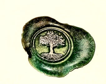 MINI Stamp Tree of Life | Wax Seal Stamp, wax sticks, wax spoon - Fast Shipping from Utah, USA - Design 20B