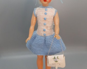 Tammy ideal: vintage crocheted dress with newer accessories