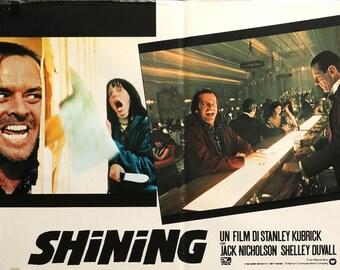 """The Shining (1980) Italian Photobusta Poster - 19"""" x 26"""""""