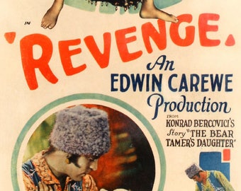 "Revenge (1928) Linen-Backed Insert Movie Poster - 14"" x 36"""