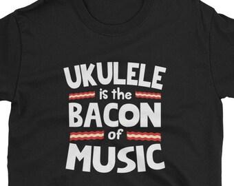 985f9904 Ukulele Shirt Ukulele Gift Bacon of Music