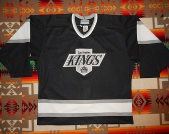 b7367caed Deadstock Vintage Los Angeles Kings Authentic On Ice Game Hockey Jersey 52  Strap CCM Center Ice La Kings