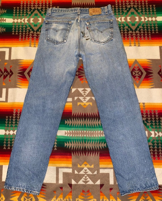 Levis 501 Button Fly Distressed Jeans Sz 33 - image 4