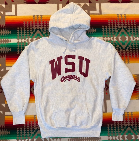 WSU Washington State Cougars Reverse Weave Hoodie