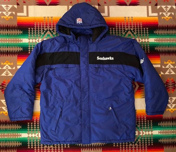 Seattle Seahawks Puma Parka Jacket Sz XL
