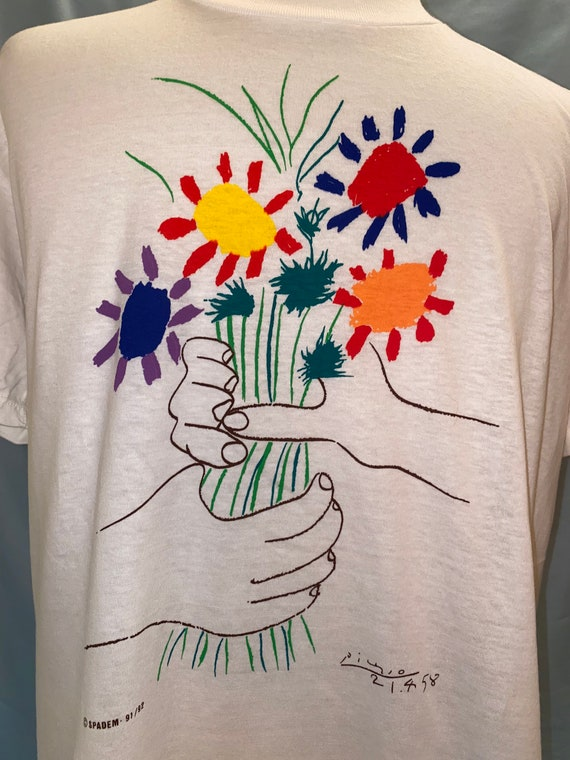 Deadstock Picasso Bouquet Of Peace T Shirt - image 2