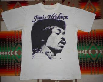 80s Jimi Hendrix T Shirt Size Small the doors santana jefferson airplane