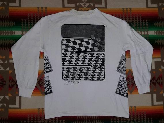 MC Escher Art Illusion Psychedelic ABC 123 Long Sl