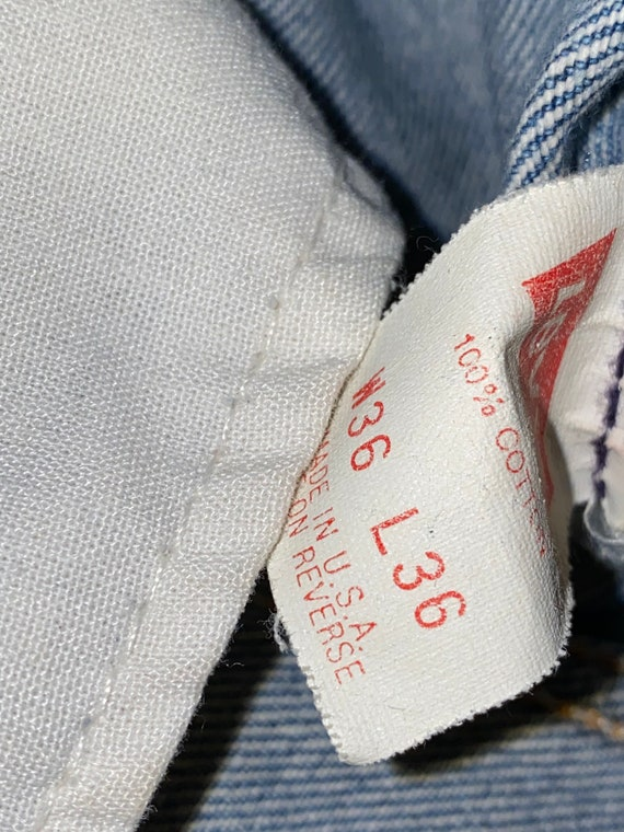 Levis 501 Button Fly Distressed Jeans Sz 33 - image 6