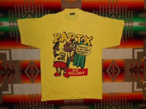 Bart X T Shirt Sz S Bootleg Bart Malcom X