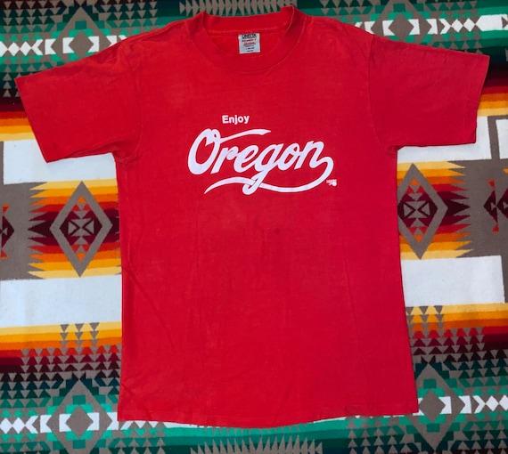 Enjoy Oregon Oneita T Shirt Sz M