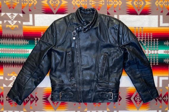 Vanguard Leather Motorcycle Jacket Sz 42
