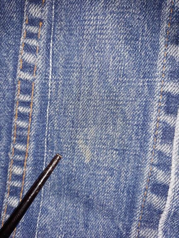 Levis Big E Denim Vest Sz M/L - image 5