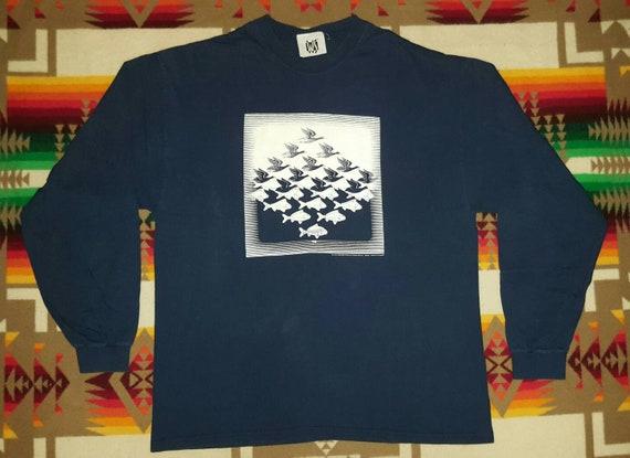 Mc Escher Long Sleeve T Shirt Sz XL