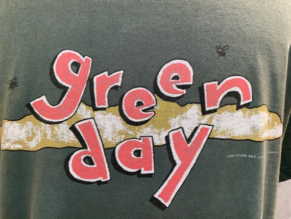 Green Day Dookie T Shirt Sz XL Crimpshrine Fiftee… - image 3