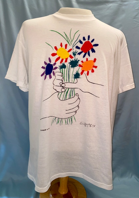 Deadstock Picasso Bouquet Of Peace T Shirt - image 1