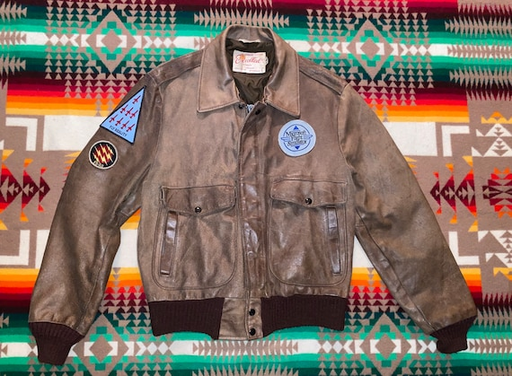 Excelled Leather Flight Bomber Jacket Sz 40