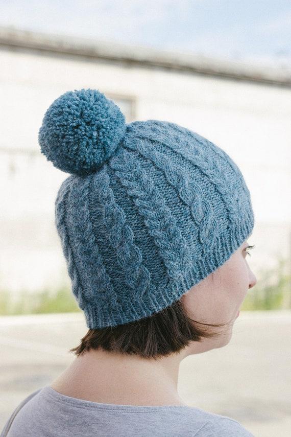 Women cable hat. Alpaca merino wool hat. Classic cable hat  1da4e526d3fd