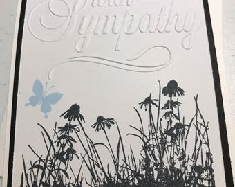 Sympathy Card with Blue Butterfly
